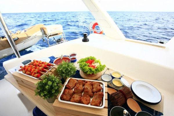 Fresh food on a boat