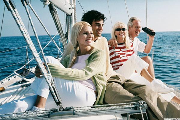 Holiday on a sailboat
